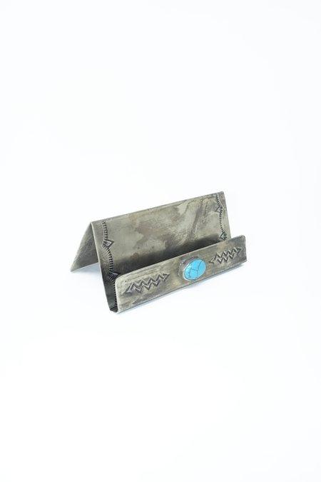 J. Alexander Stamped Card Holder - Silver