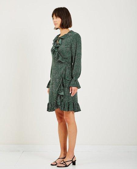 Just Female image wrap dress - green dot
