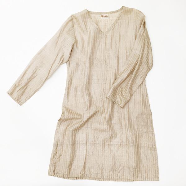 Johan Vintage Beige Silk Tunic