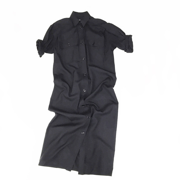Johan Vintage Black Shirt Dress