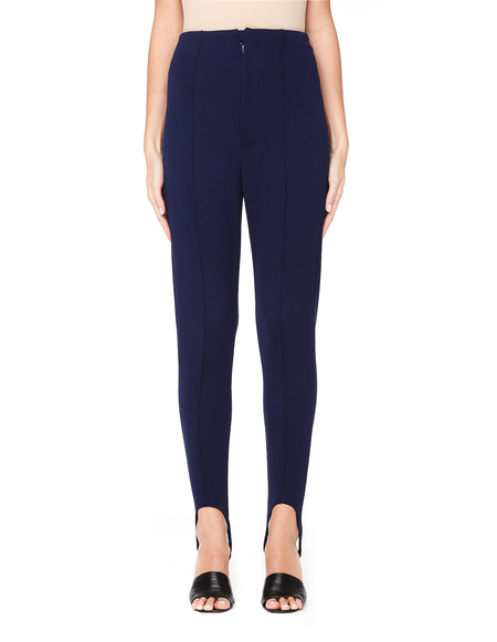 Undercover Elastic Striped Leggings Pants - Blue
