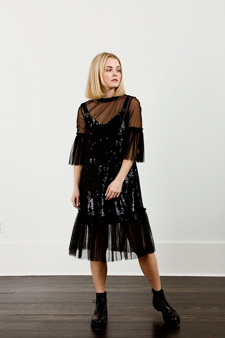 French Connection Eve Sparkle Layered Dress