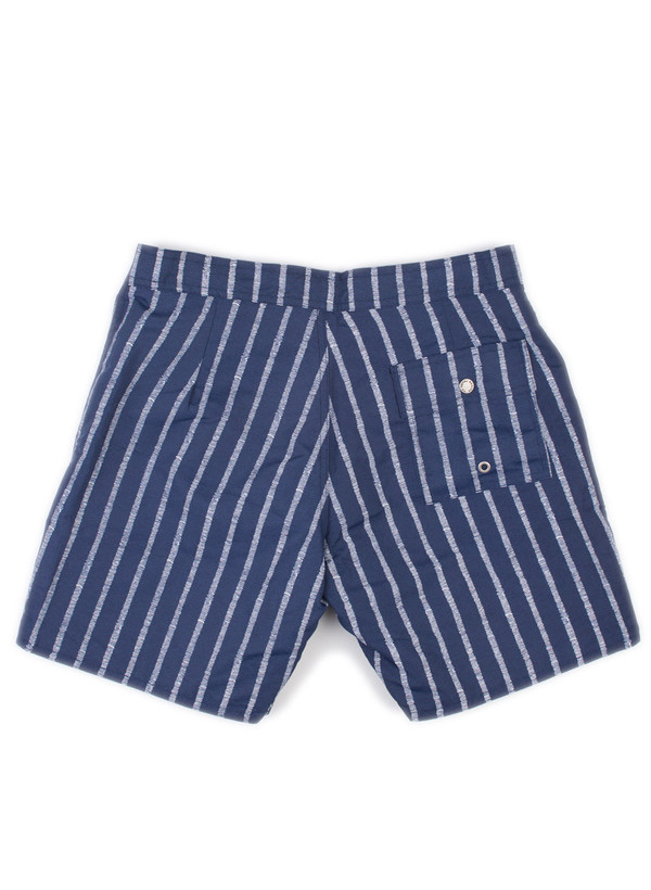 Men's Bather Blue Stripe Surf Trunk