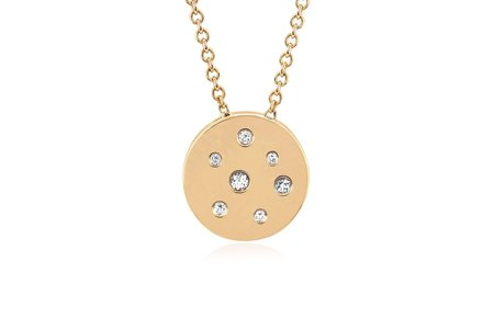 EF Collection MINI DIAMOND & WHITE SAPPHIRE SPECKLED NECKLACE - ROSE GOLD