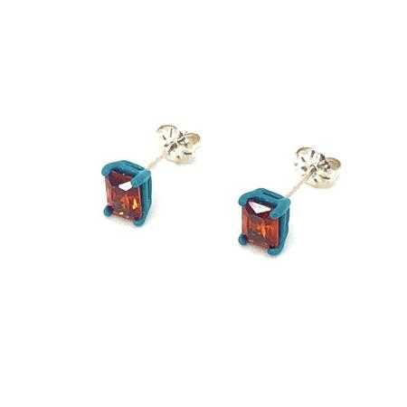 Funhouse Labs Studs - Turkish Blue/Red