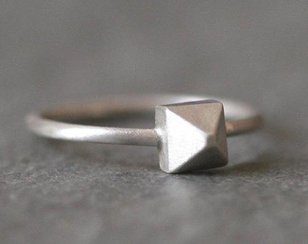 Michelle Chang Pyramid Ring - Silver