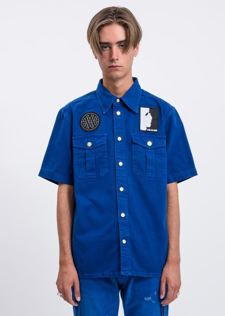 Vyner Articles Treatment and Patches Scout Shirt - Blue