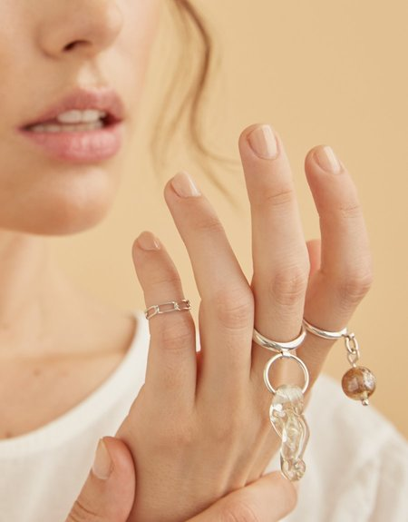 Cled Amorphous Ring - Clear Air