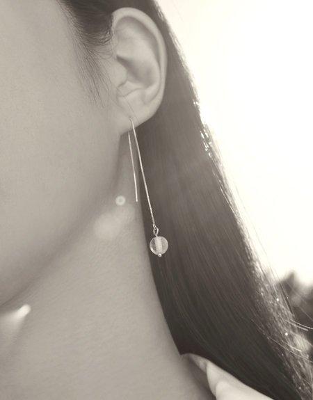 Cled Minimal Line Earrings - Sterling Silver
