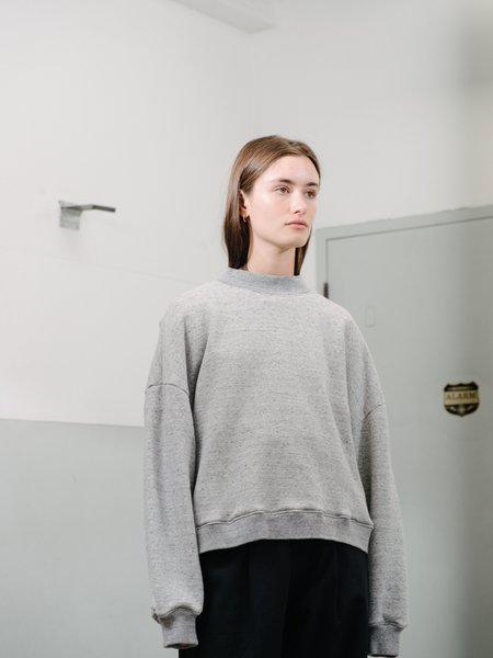 Priory Slouch Crew - Terry Heather Grey