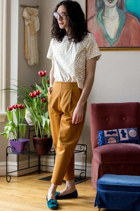 Amanda Moss Peggy Pants - Ochre Stretch Cotton