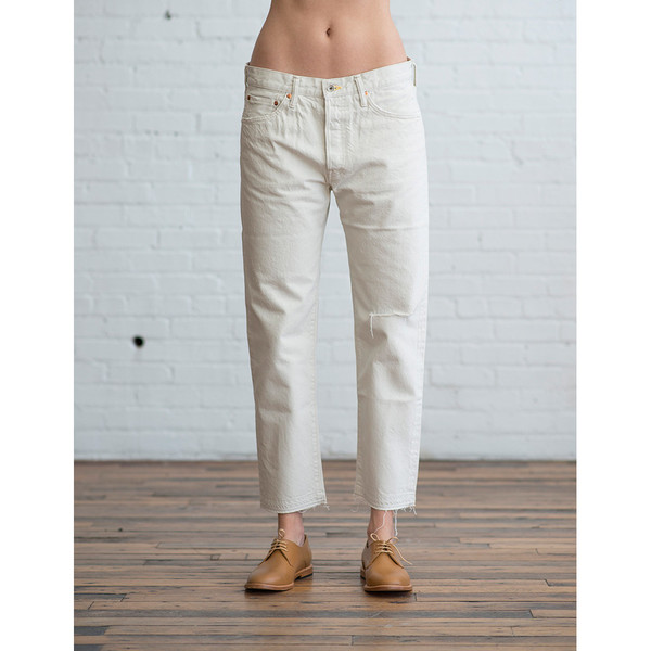 Chimala Used Ankle Cut Jeans Ivory - SOLD OUT