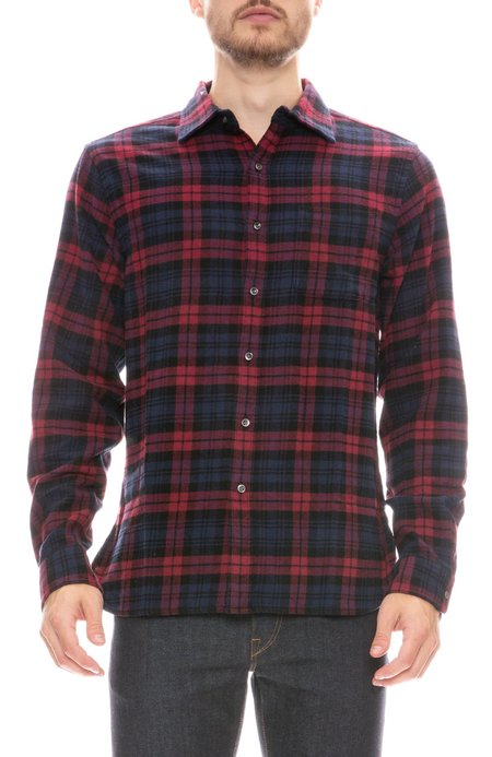 Alex Mill Easy Plaid Flannel shirt - RED/NAVY