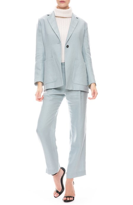 RON HERMAN CALIFORNIA Exclusive Pleated Pants - Blue