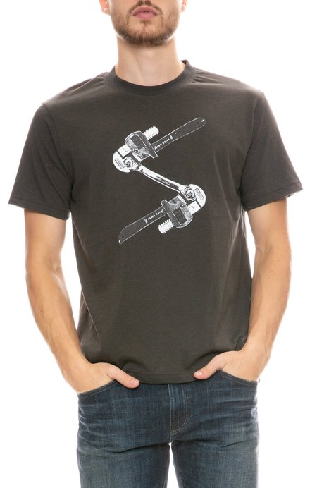 TEE LIBRARY Spanner T-Shirt - CHARCOAL
