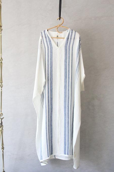AISH Usha Kaftan - White/Blue