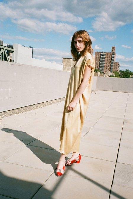 Miranda Bennett Petite Silk Charmeuse Knot Dress - Sumatra