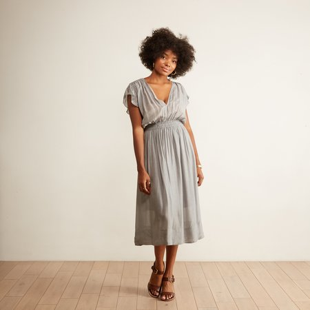 Guadalupe Adelaide Midi Dress - Grey