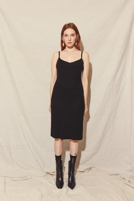 Kamperett RIB KNIT FULL SLIP - BLACK