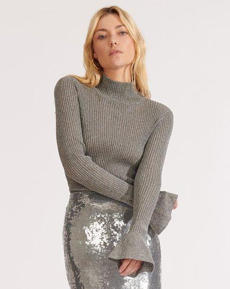 Veronica Beard Lilia Turtleneck Pullover - gray
