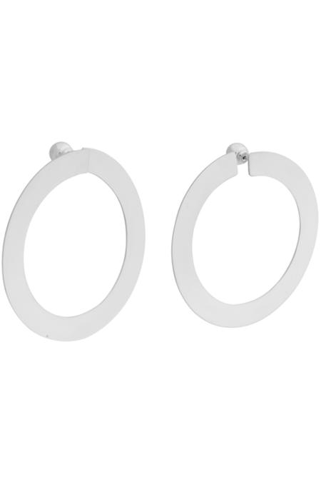 YUUN Octave Hoop Earrings - Sterling Silver