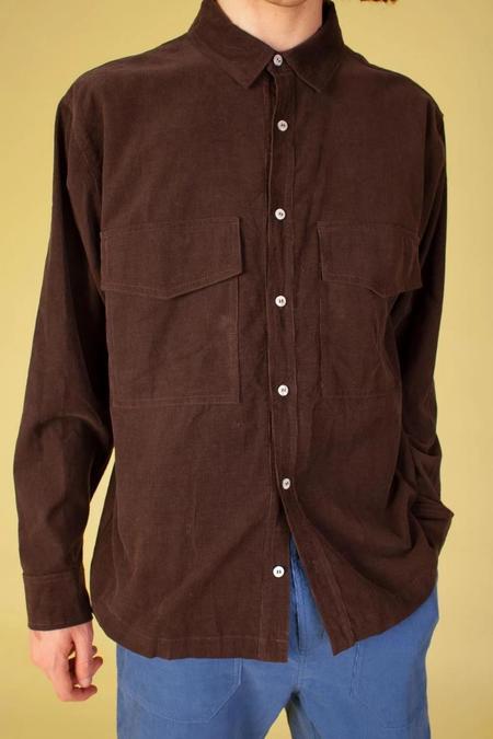 LF markey Ando Shirt - Chocolate Corduroy
