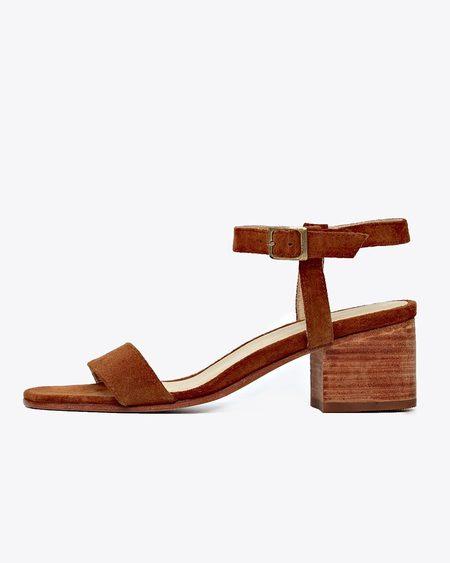 Nisolo Lucia Block Heel Sandal - Nutmeg
