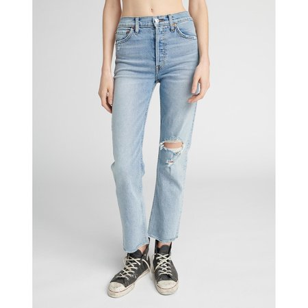 RE/DONE Comfort Stretch High Rise Stove Pipe Jean