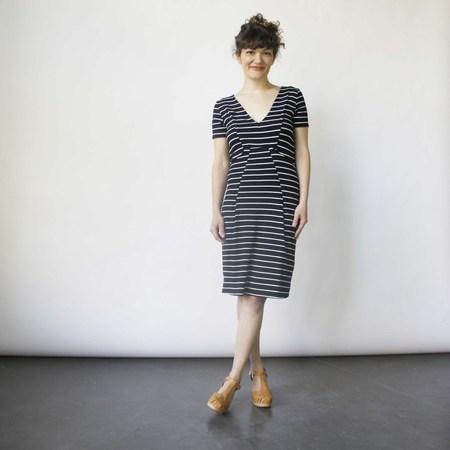 Lizz Basinger Bent Dart Fitted Dress