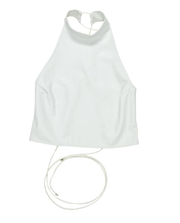 Collina Strada Rainer Top- White Leather