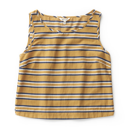 Bridge & Burn Meridian Linen Tank Top - Gold Stripe