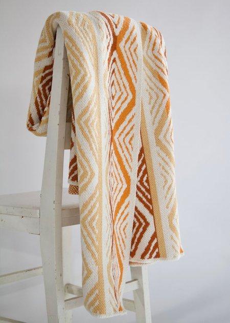 Happy Habitat Recycled Cotton Blanket - Diamond Stripes