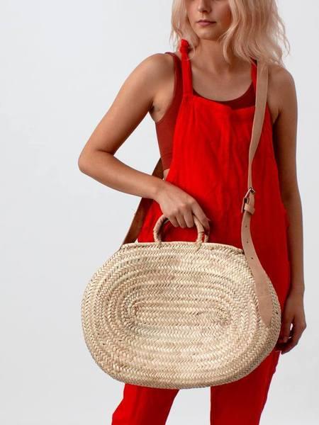 Bohemia Wholesale Oval Moroccan Crossbody Basket