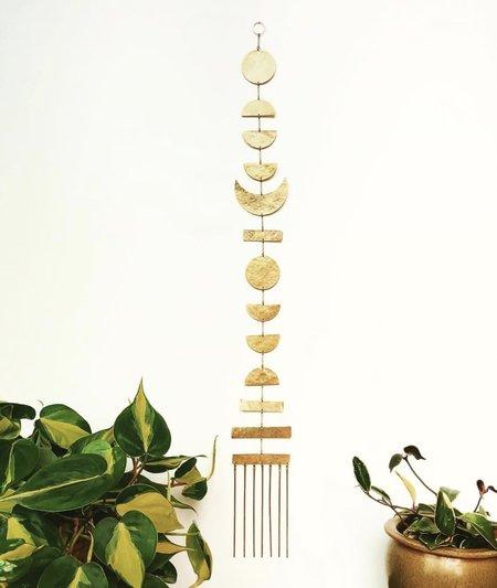 Vida + Luz Genesis Hammered Brass Hanging