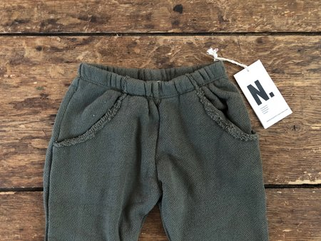 Kids Go Gently Nation Textured Track Pant - Moss
