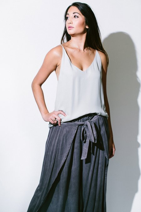 Heather silk double layer cami - Light Grey