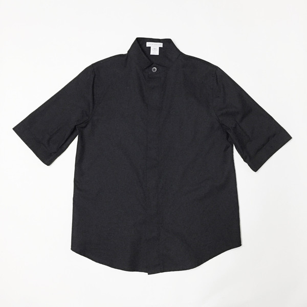 Shelby Steiner Black Mandarin Collar Shirt
