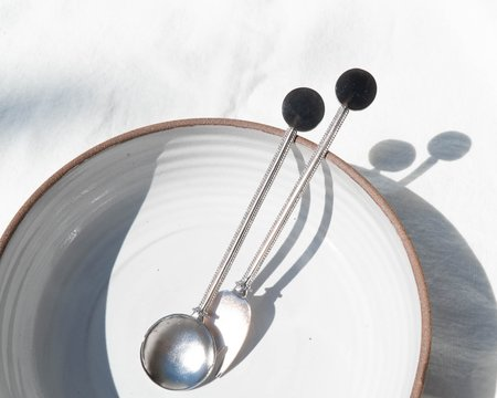 Natalia Criado Quartz Serving Set - Silver