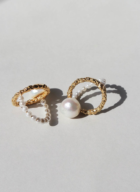 MIRIT WEINSTOCK PEARLS RING - Gold/Pearl