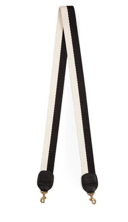 Clare V. Crossbody Strap - Black/White