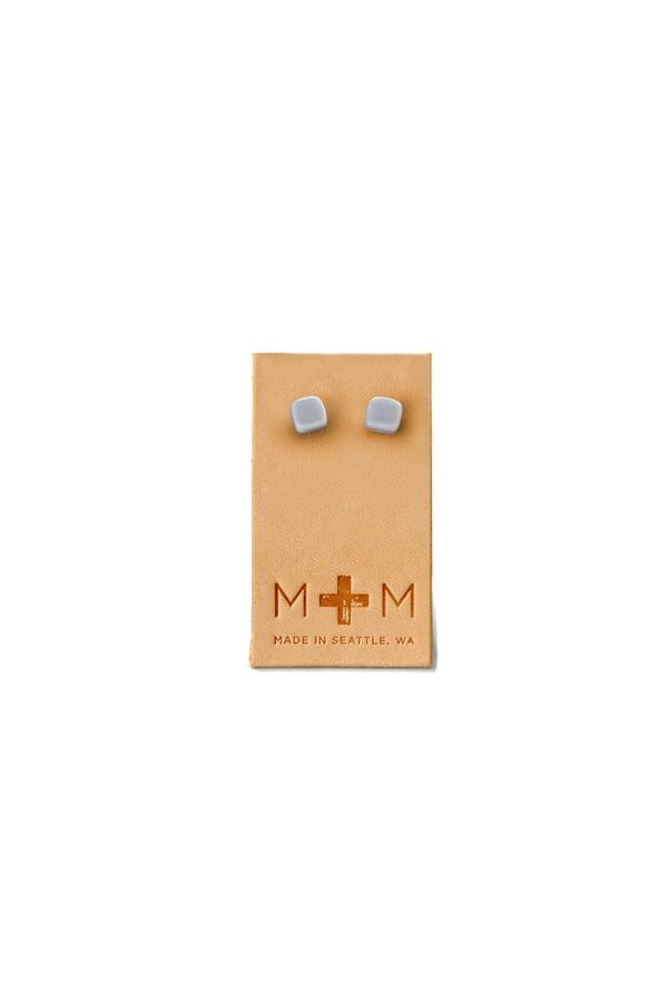 Maple & Mauve Ceramic Cube Studs