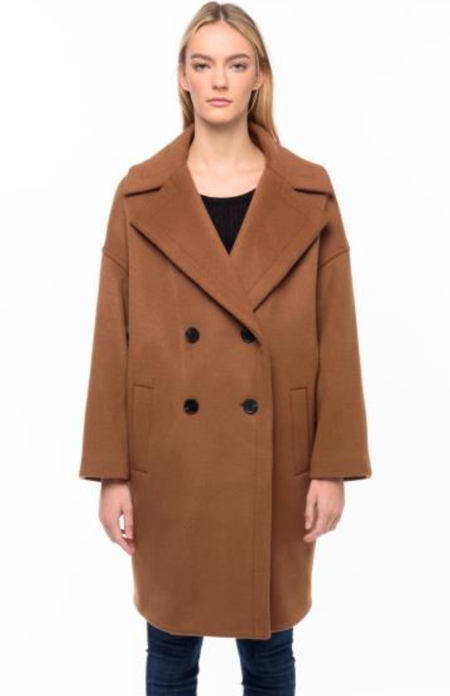 LINE Maxine Coat - Chestnut