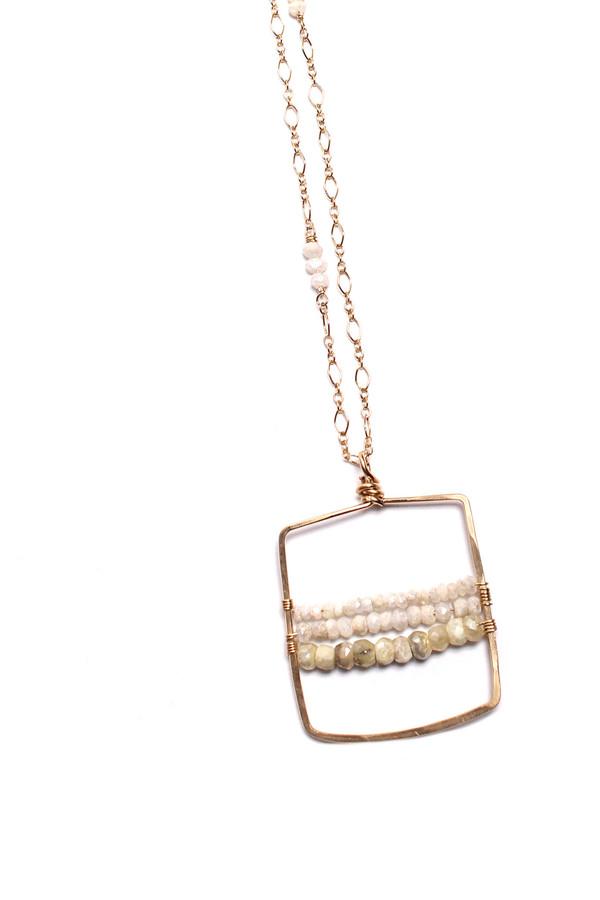 Silverite Square Necklace