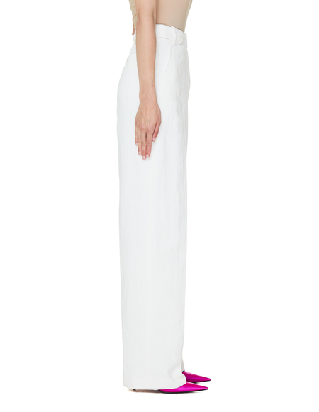 The Row Linen Trousers - White