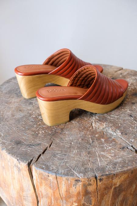 Beklina Ribbed Open Toe Clog - Clay