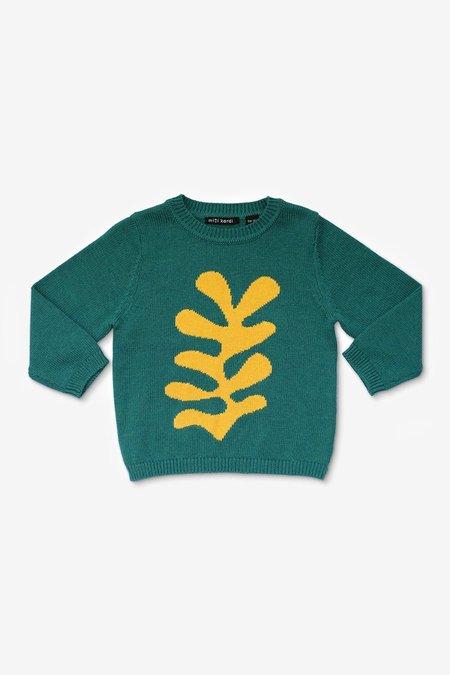 Kids Mini Kardi Yellow Plant Sweater