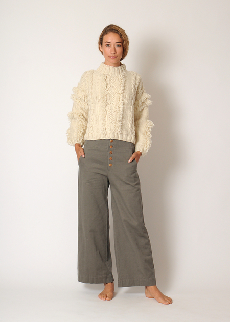 Kordal Cable Knit Sweater - Cream