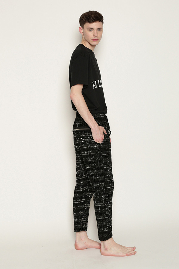 Men's Tourne De Transmission Nomad Ikkat Yutok Pants in Black/White