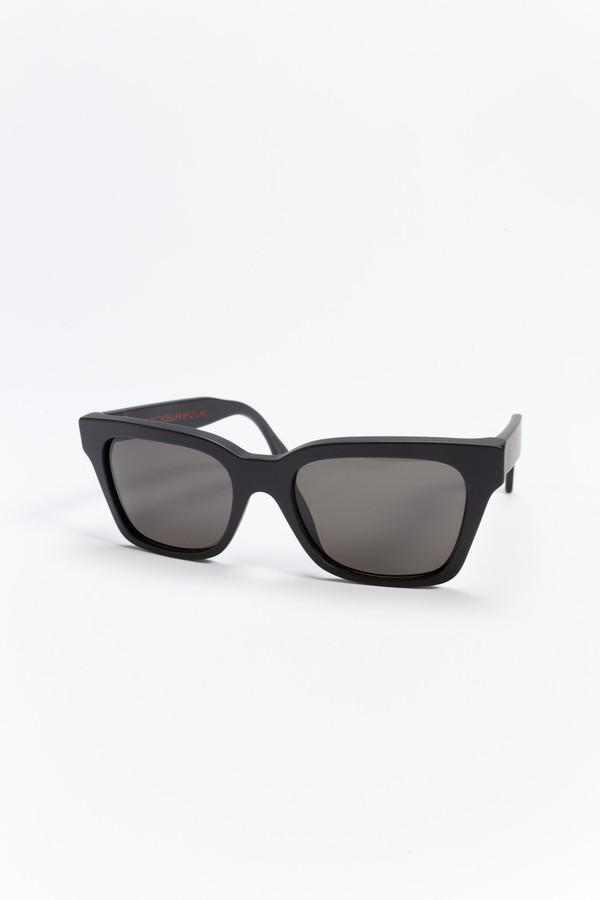SUPER America Black Matte Sunglasses