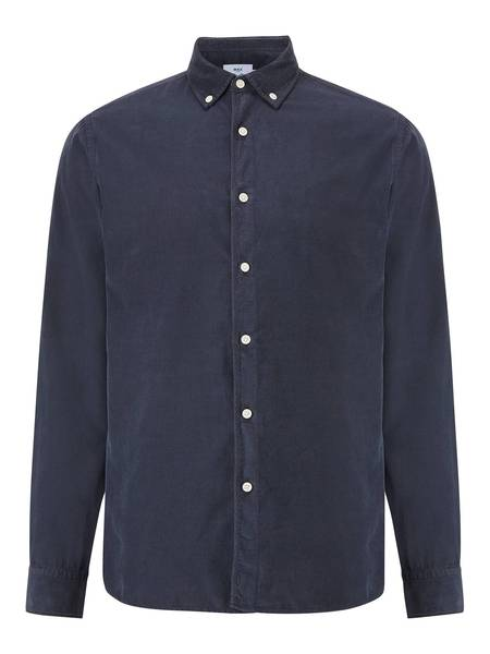 Wax London Bampton Corduroy Shirt - Deep Ocean